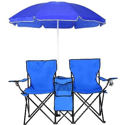 Swell Amazon Com Chair Loveseat Portable Folding Travel Picnic Creativecarmelina Interior Chair Design Creativecarmelinacom