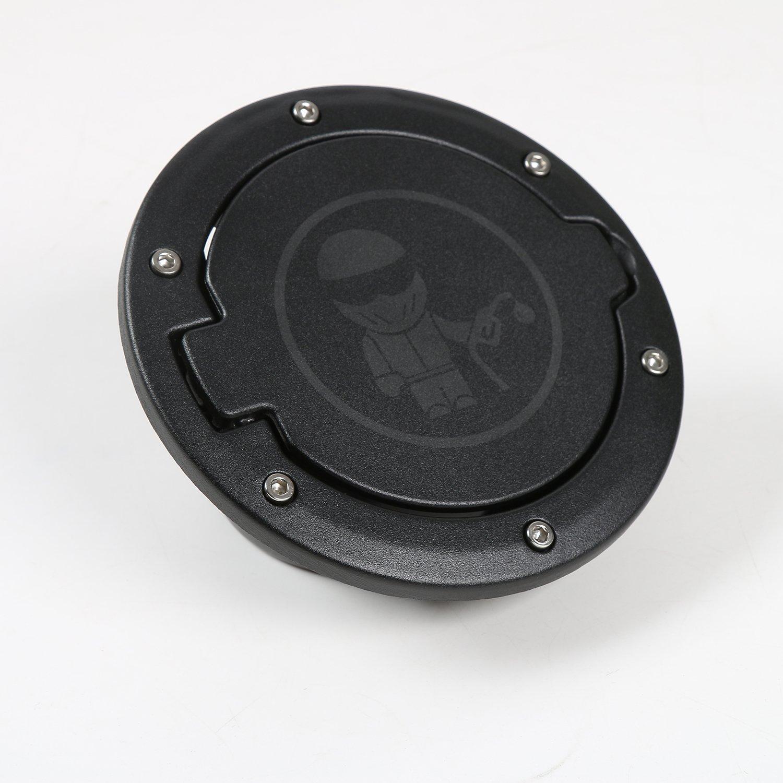 JeCar Metal black Gas Fuel Tank Gas Cap Cover & Accessories for 07-16 Jeep Wrangler JK