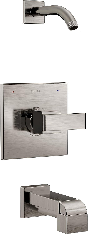 well-wreapped Delta Faucet Delta T14467-SSLHD Ara 14 Series Tub/Shower Trim - Less Showerhead, Stainless