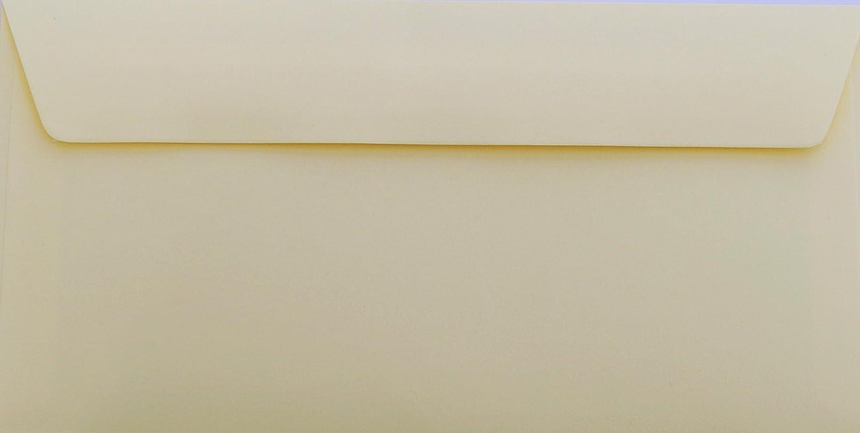 Briefumschläge24Plus 50 buste da lettera, formato DIN orizzontale, 22 x 11 cm, colore: Champagne