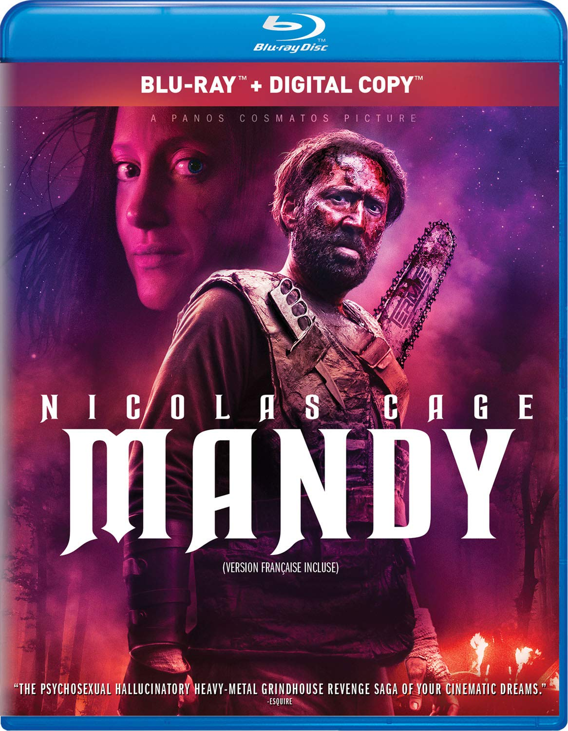 Mandy [Blu-ray] Nicolas Cage Andrea Riseborough Linus Roache Ned Dennehy