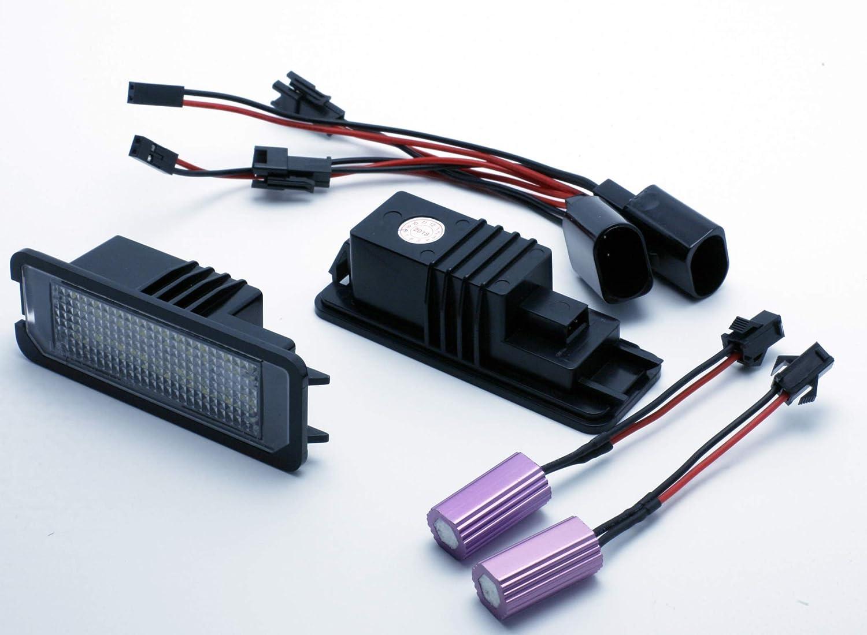 VINSTAR 2X Luces para MATRICULA LED Seat EXEO 09-13 CANBUS PLAFONES HOMOLOGADOS E4: Amazon.es: Coche y moto