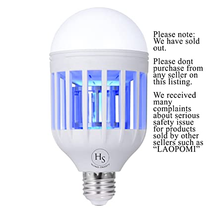 Bug Zapper Light Bulb, Electronic Insect Killer, Mosquito Zapper Lamp, Fly  Killer,