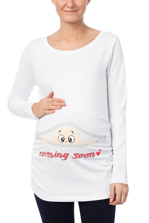 Umstandsmode T-Shirt Sweatshirt mit Süßen Motiv Schwangerschafts  Babydruck