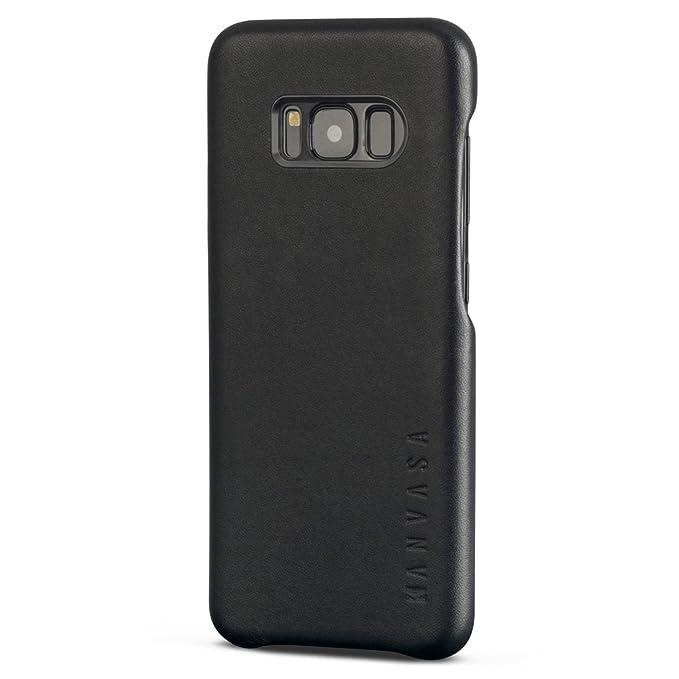 """9 opinioni per Galaxy S8 Cover in Pelle Nera- KANVASA """"Skin"""" Custodia Ultrasottile per Samsung"""