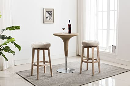 kitchen bar counter height wrap around chairus counter height swivel bar stools 24 inch tufted upholstered round distressed indoor outdoor amazoncom