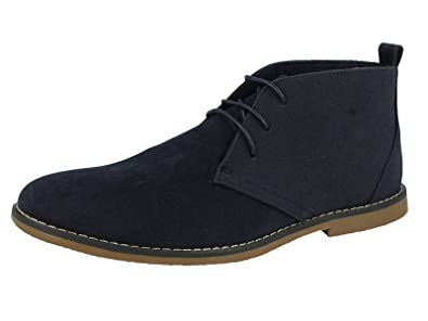 ba92b106f Directional Footwear Mens Faux Suede Lace up Flat Desert Chelsea Ankle Boots  Size 6-12: Amazon.co.uk: Shoes & Bags