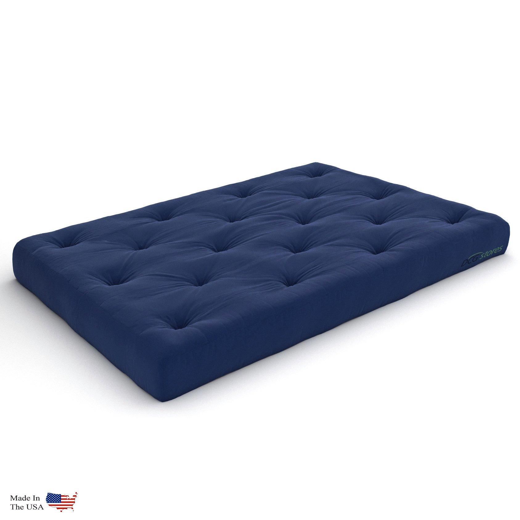 Nirvana Futons Premier Pocket Coil 10-Inch Queen Futon Mattress, Navy Twill - Made in USA by Nirvana Futons