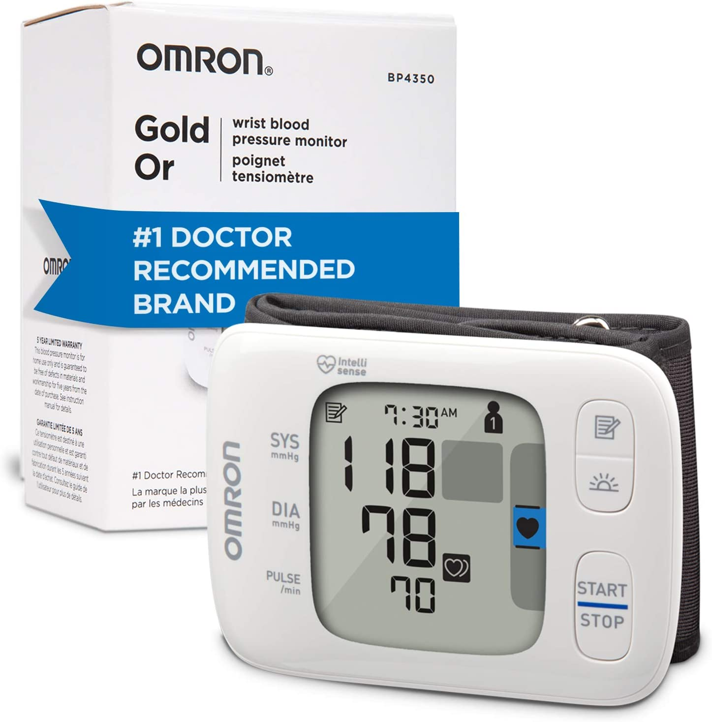 Amazon Com Omron Gold Blood Pressure Monitor Portable Wireless Wrist Monitor Digital Bluetooth Blood Pressure Machine Stores Up To 200 Readings For Two Users 100 Readings Each Health Personal Care