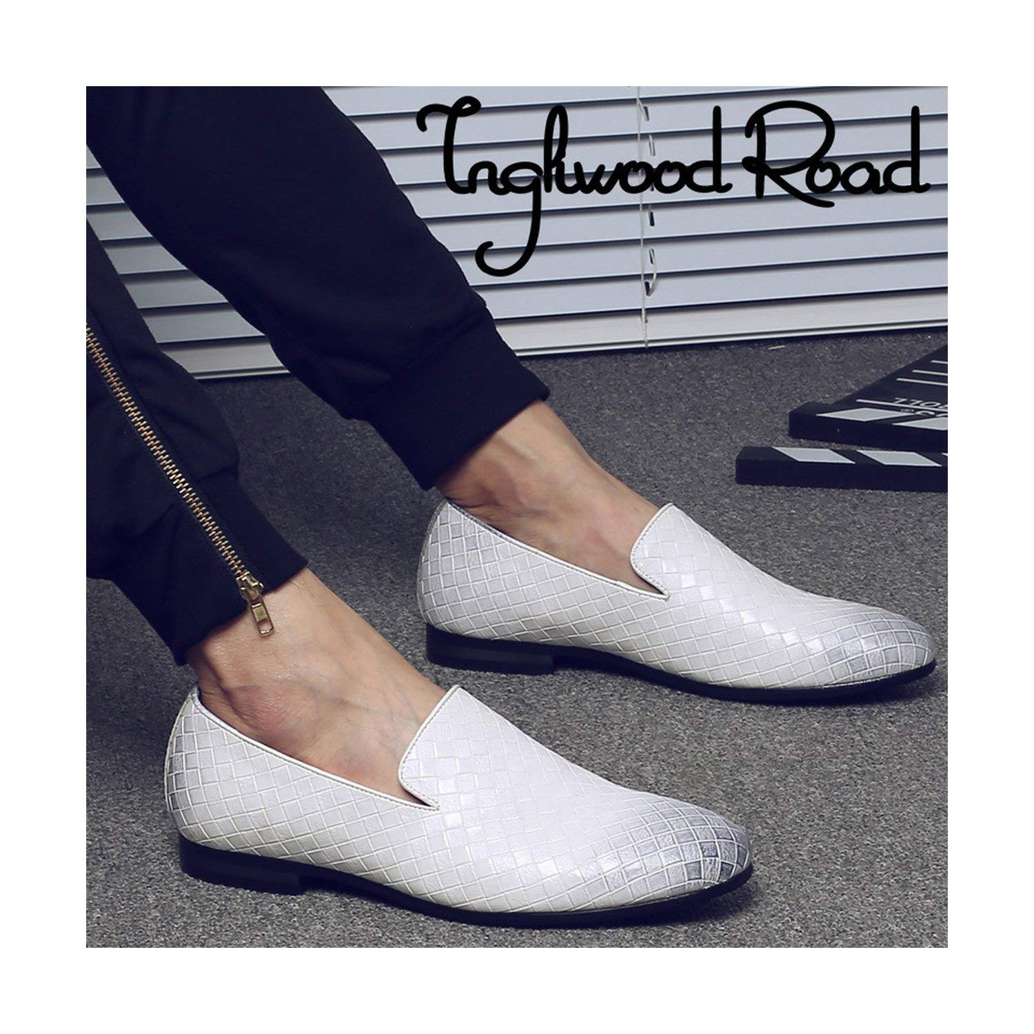 FJ-Direct Spring Weave Men Loafers Leather Shoes Mens Luxury Brand Casual Slip On Soft Mens Dress Shoes Big Size 37-47 Drop Ship