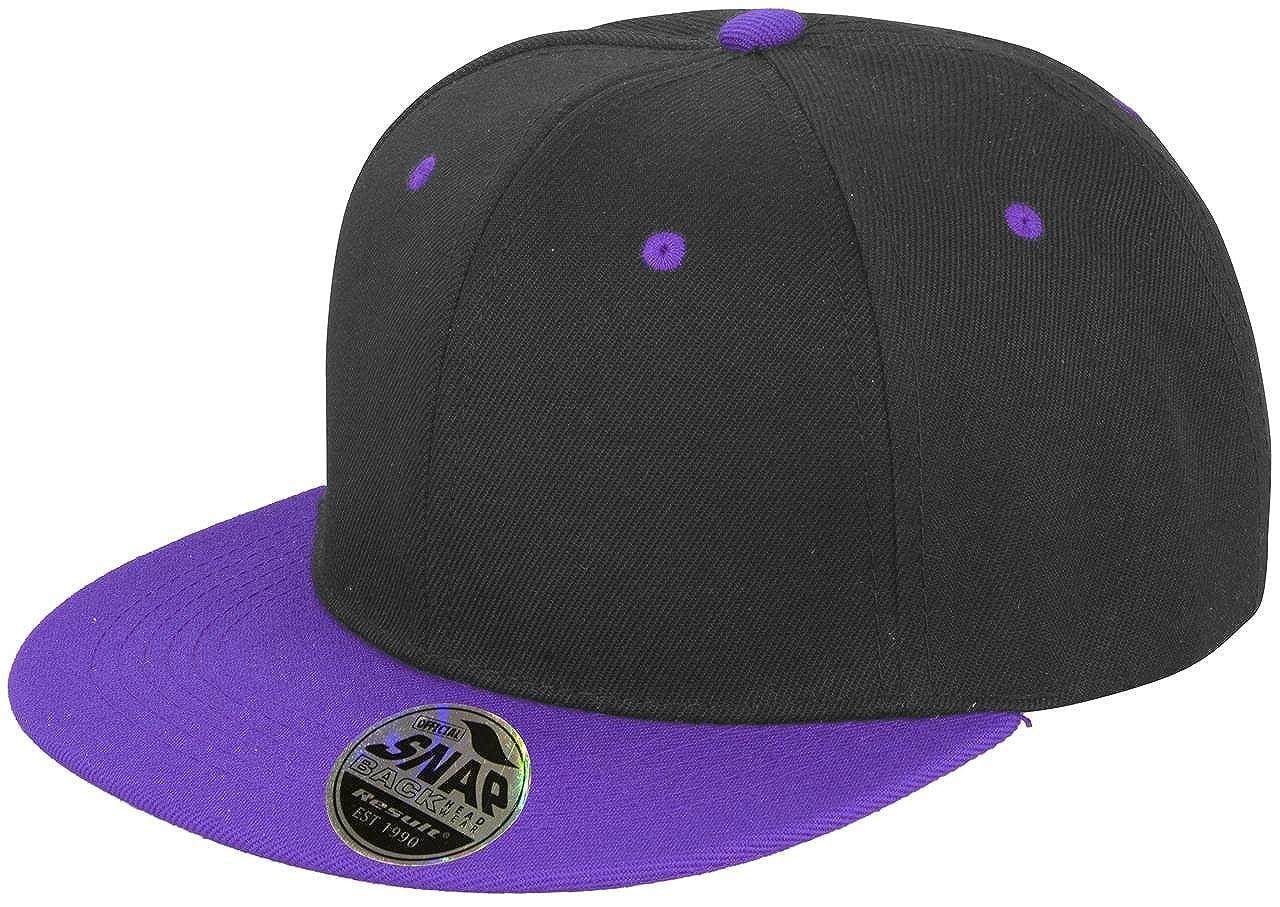 7c7b8d4d85a Result Core Bronx Original Flat Peak-snapback Dual Colour Cap Black  Azure   Amazon.co.uk  Clothing