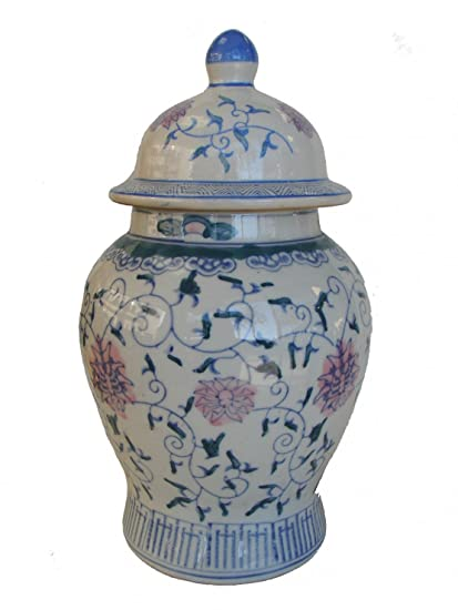 Amazon Feng Shui Import Blue Wealthy Vase With Lid Add