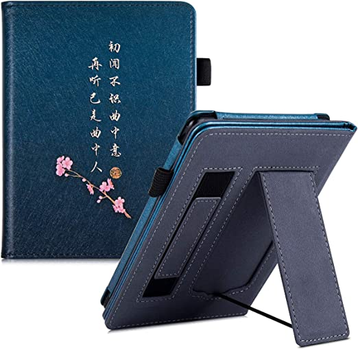 Fits All-New 10th Generation 2018 // All Paperwhite Generations Mandala Stand Case for Kindle Paperwhite - Premium PU Leather Protective Sleeve Cover with Card Slot and Hand Strap