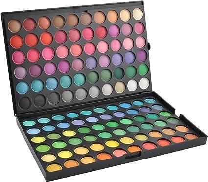 PALETA DE 120 SOMBRAS DE OJOS • 22,5 x 14,5 cm • peso: 375 g • garantiza el maquillaje perfecto • paleta muy ligera y práctica • #818: Amazon.es: Belleza