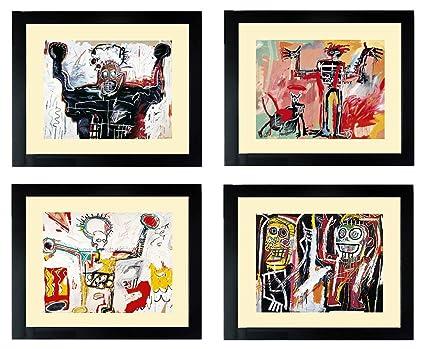 Amazon.com: Basquiat Art Posters Set of Framed Prints: Jean Michel ...