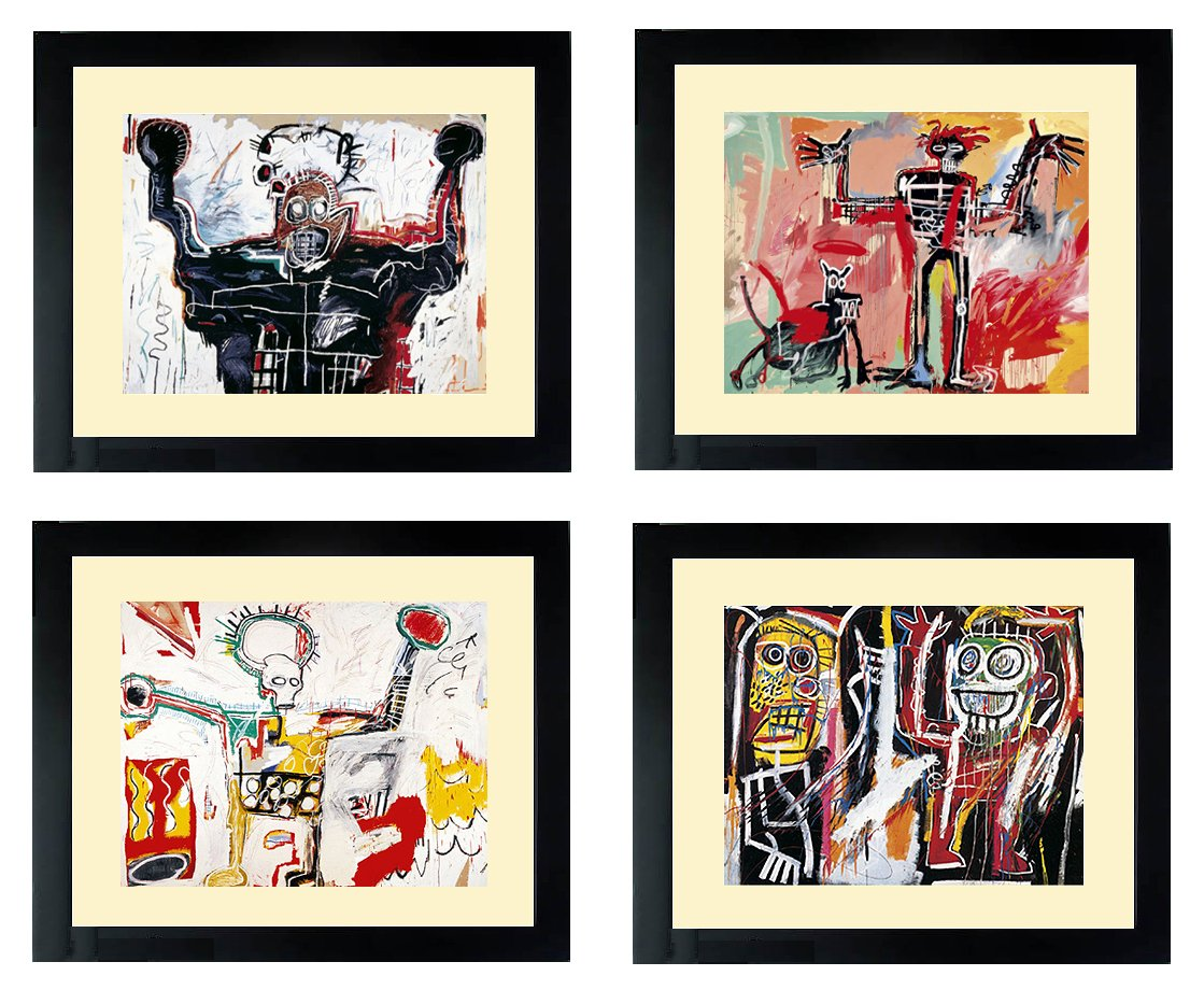 Basquiat Art Posters Set of Framed Prints by