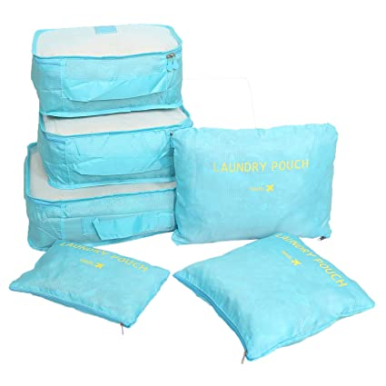 77a06118ddf0 Kuber Industries 6 Pieces Nylon Travelling Mesh Laundry Pouch, Light ...