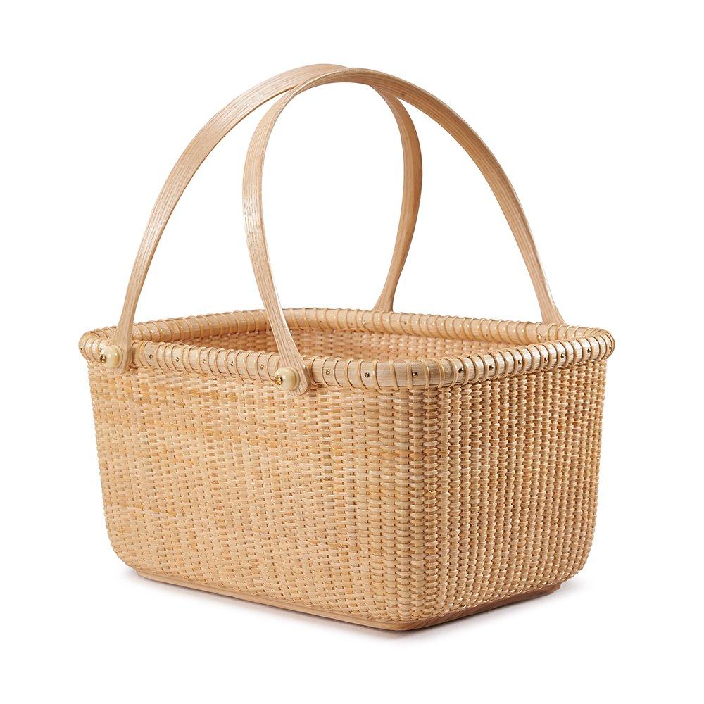 Tengtian Brand, Nantucket Basket, Fruit Basket, Fruit Plates ,Storage Basket, Desktop Organizer, Woven Rattan, Chinese Traditional Handicrafts, Casual Style, Natural Environmental Protection
