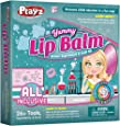 Playz Yummy Lip Balm Science Experiments Arts & Craft Kit - 26+ Tools to Make Fruity Lipstick, Shimmering Balms, & Solar Lip Screens w/ Tasty Ingredients for Girls, Boys, Teenagers & Kids Ages 8+