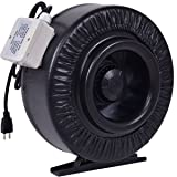"Goplus 4"" 6"" 8"" Inline Duct Fan Inline Duct Booster Hydroponics Exhaust Cooling Fan Blower Strong CFM"