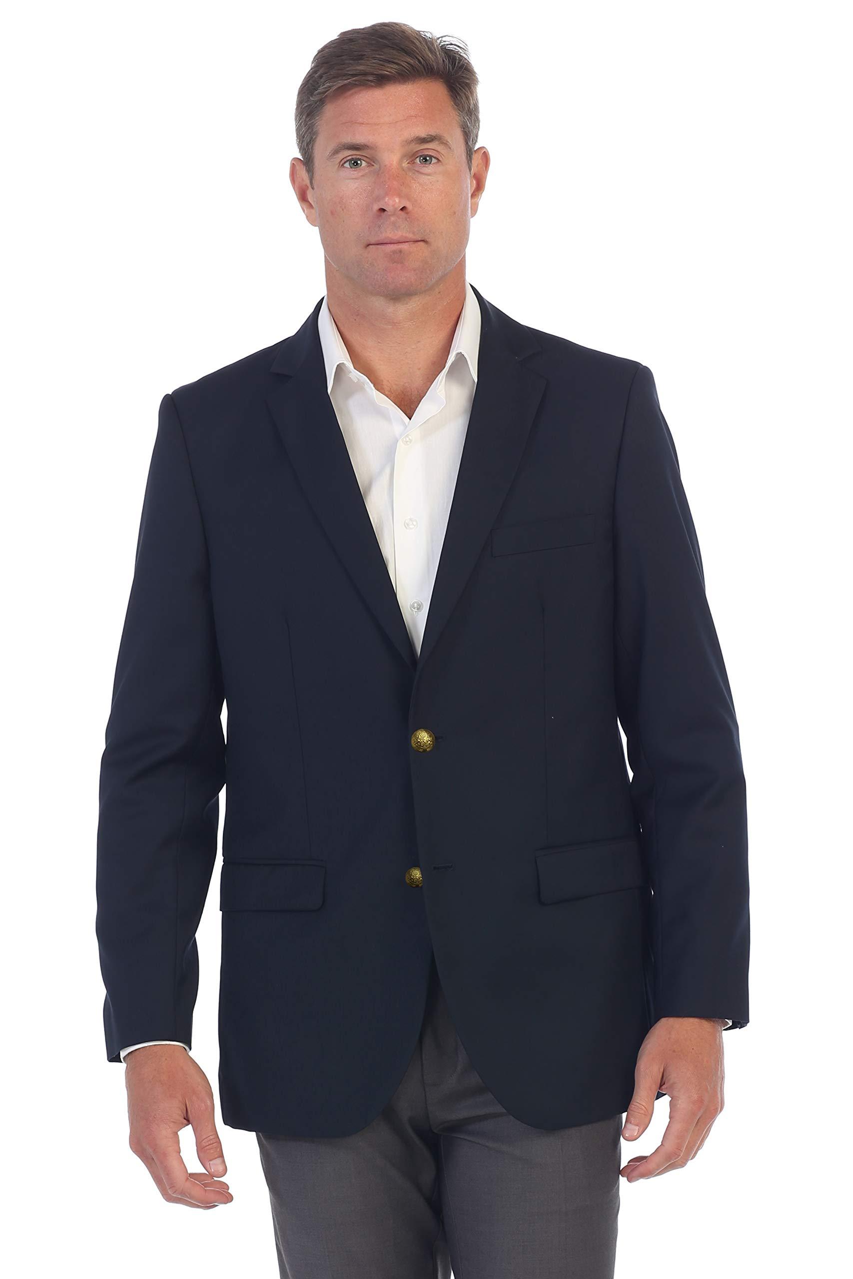 Gioberti Mens Formal Navy Blazer Jacket, Size 44 Regular by Gioberti