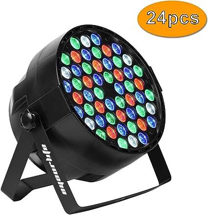 Eyourlife - Luces LED de escenario para DJ PAR DMX 512, proyector ...