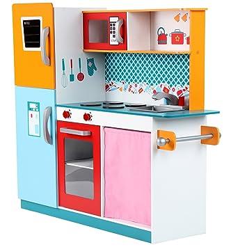 Infantastic® - Cocina de juguete con frigorífico, horno y microondas ...