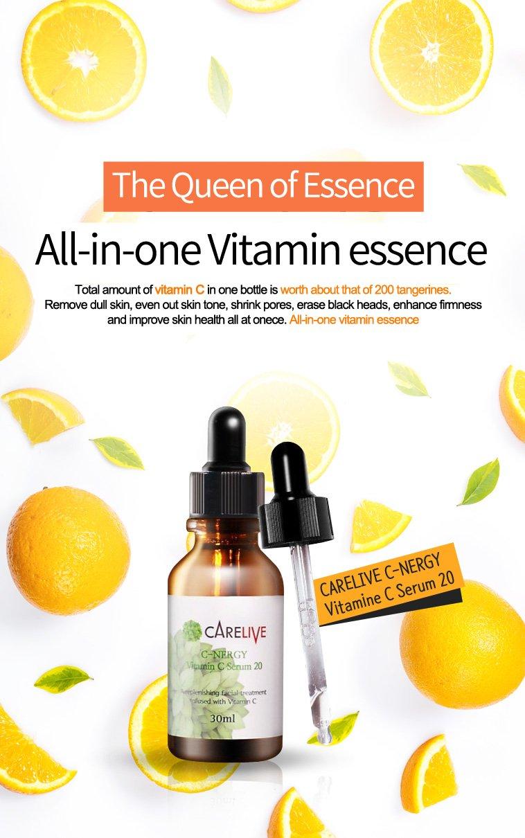 Carelive C Nergy Vitamin Serum 20 30ml Beauty Ost Original Pure C20
