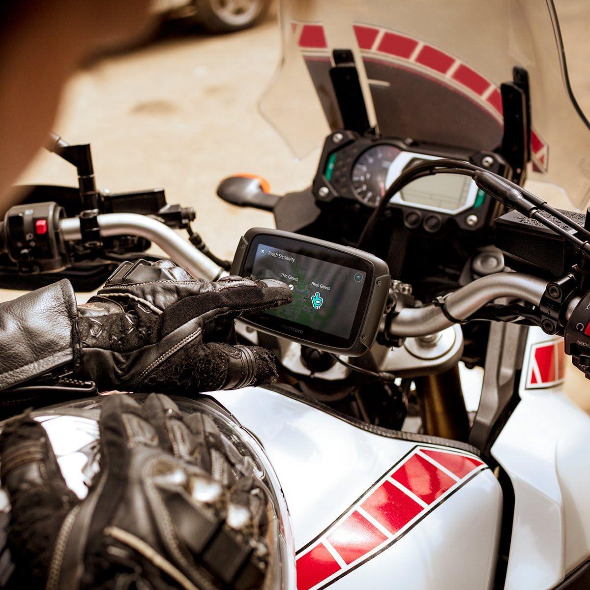 TomTom Solution antivol Trafic GPS Moto TomTom Rider 500 Appel Mains-Libres Routes sinueuses et vallonn/ées Cartographie Europe 49 pays Zones de Danger /à Vie