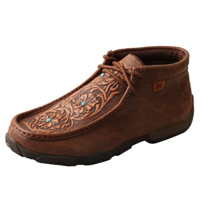 Twisted X Women's TETWP Chukka Leather Driving Moccasins: Sports & Outdoors