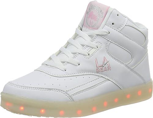 Amazon.com: L.A. Gear Flo luces Jr. Suela Zapatillas ...