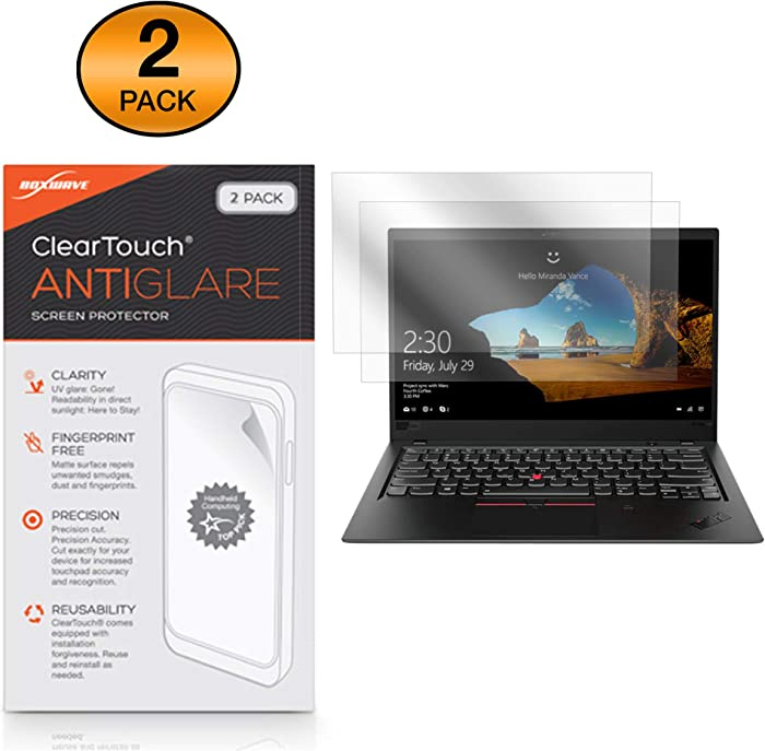 Lenovo Thinkpad X1 Carbon (6th Gen) Screen Protector, BoxWave® [ClearTouch Anti-Glare (2-Pack)] Anti-Fingerprint Matte Film Skin for Lenovo Thinkpad X1 Carbon (6th Gen)