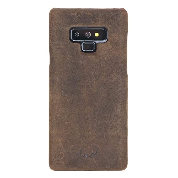 low priced 50f20 8aca7 Samsung Note 9 Leather Case by Burkley, Luxury Leather Snap-On Back Cover  for Samsung Note 9 | Slim and Lightweight | Hand-Wrapped in Premium Leather  ...