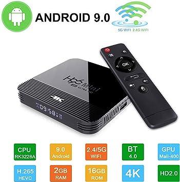 H96 Mini TV Boxes Android 9.0 TV Box RK3328A Quad Core Cortex A7 CPU 2GB RAM