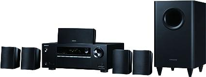 Onkyo 2,1-Canal TV-Sistema de Altavoces DTS Studio Sound, Dolby Digital, Bluetooth-Streaming de Audio, subwoofer inal/ámbrico
