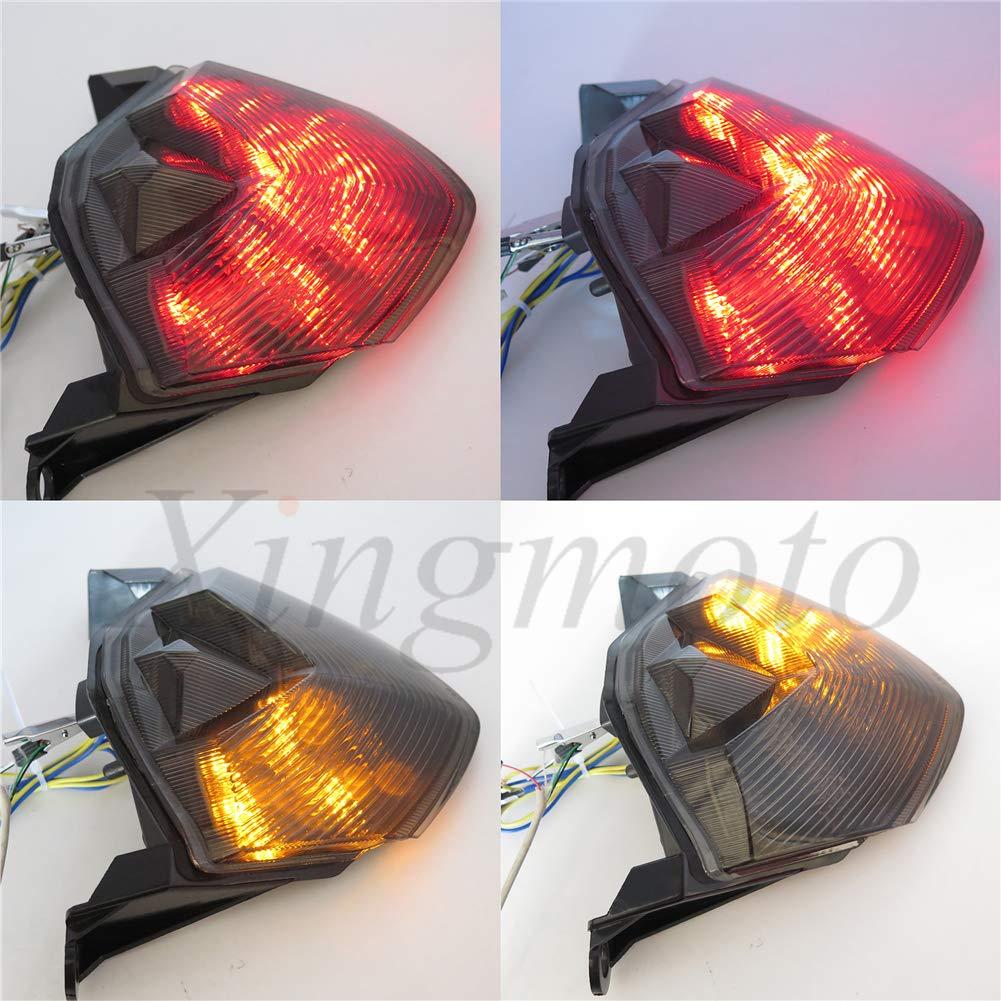 Luz de freno LED para motocicleta con intermitentes integrados para Kawasaki 07-12 Z750//07-08 Z1000//08-10 ZX-10R ZX1000//09-12 ZX-6R ZX600 NBX