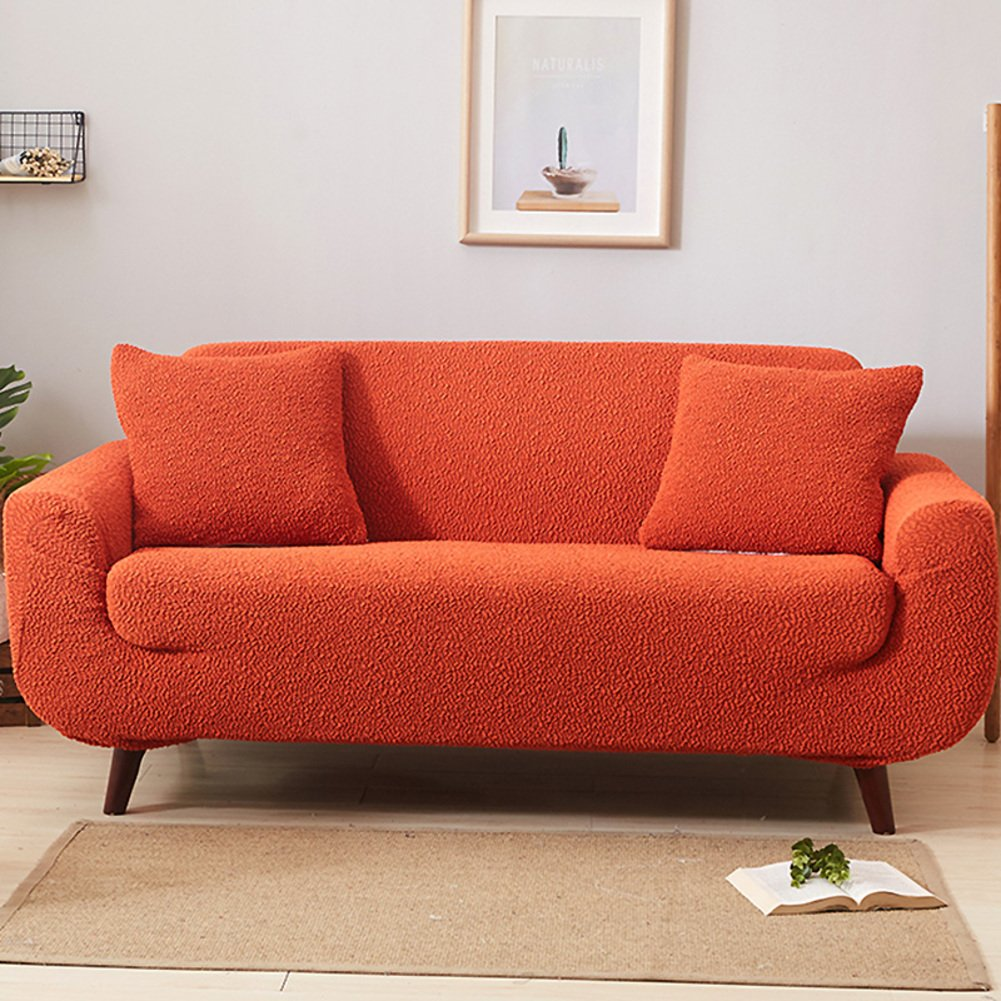 Couch cover solid color,High elasticity sofa furniture protector couch cover perfect for pets and kids sofa furniture protectors sectional sofa throw pad-I 3 Seater(7190inch)