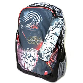 Amazon.com: Backpack Star Warsblack white red (+ kit)- 42.5x30x18.5 cm (16.73x11.81x7.28).: Clothing