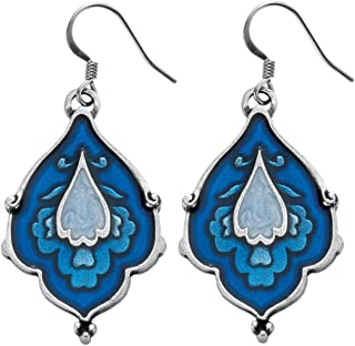 product image for DANFORTH - Sari/Blue Sky Earrings - 1 7/8 Inch - Pewter - Surgical Steel Wires - Handcrafted - USA