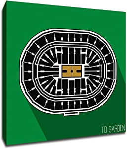 Boston - TD Garden - Basketball Seating Map - 12x12 Gallery Wrapped Canvas Wall Art