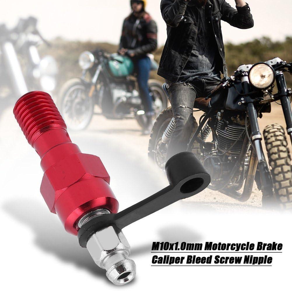 M10x1 0mm Motorrad Hauptbremszylinder Bremssattel Entlüftungsschraube Nippel Hohlschraube Und Staubkappe Red Auto
