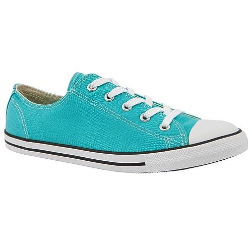 Traje de neopreno para mujer diseño de plantas ox Converse verde bomba de Lienzo zapatillas de, color verde, talla 38: Amazon.es: Zapatos y complementos