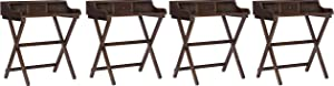 Linon Home Decor Products Linon Walnut Folding Griffin Desk (Pack of 4)