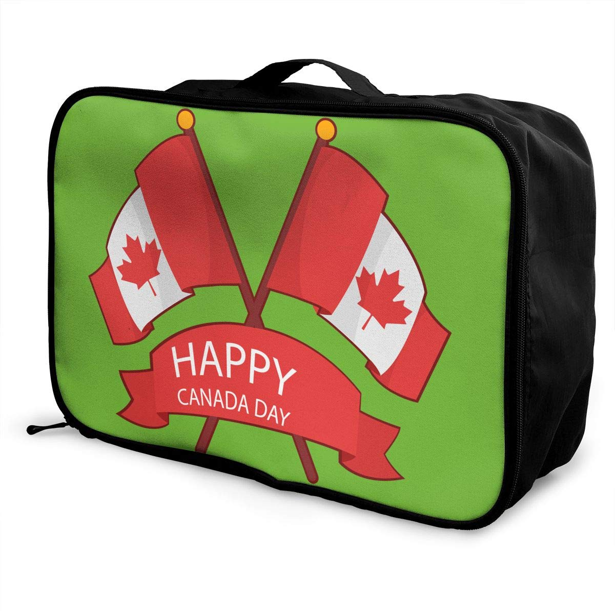 Travel Luggage Duffle Bag Lightweight Portable Handbag Canada Day Large Capacity Waterproof Foldable Storage Tote