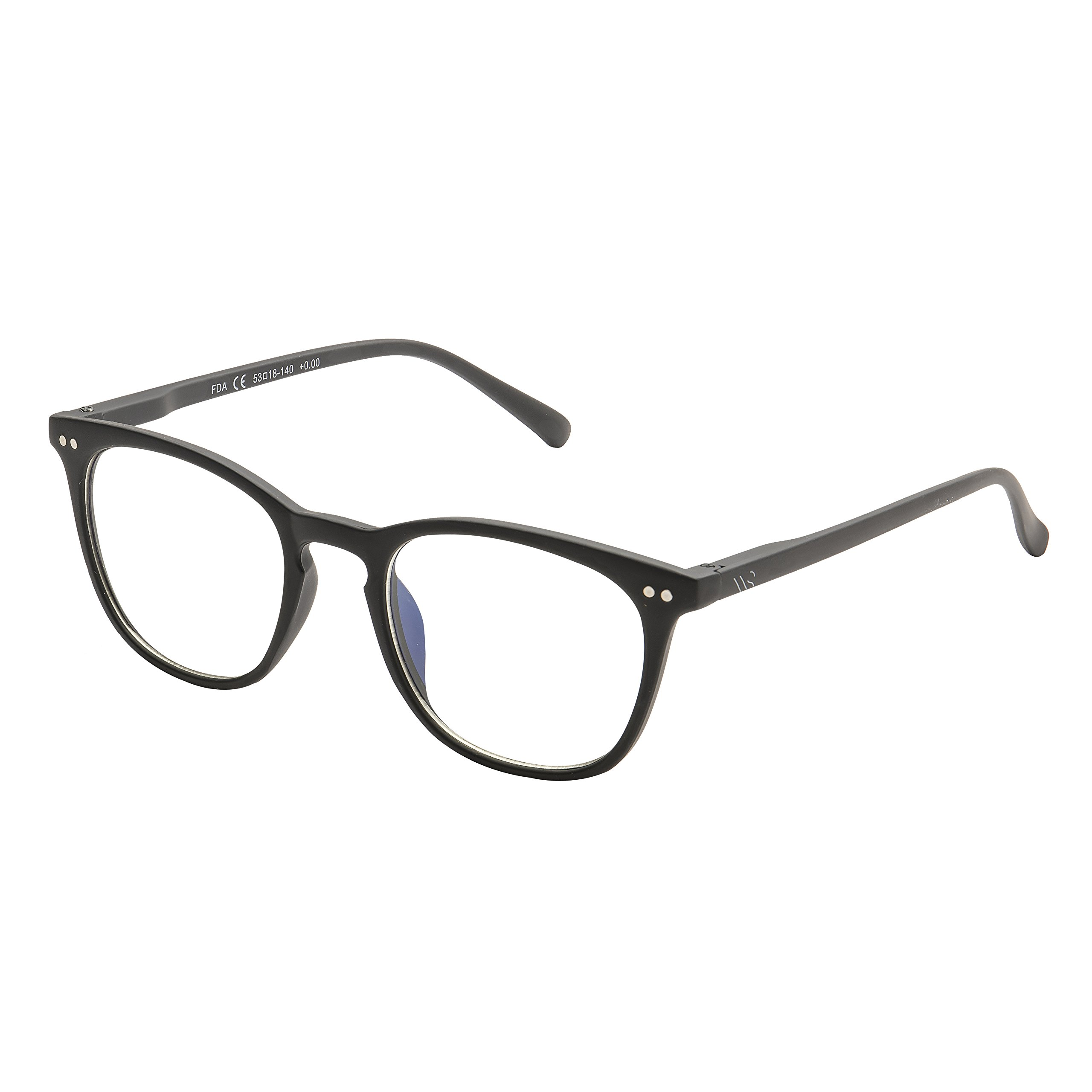 Blue Light Blocking Glasses,With Anti-Glare,Cut UV400 Transparent Lens,Computer Reading Glasses,Anti Eyestrain/Anti Scratch/Anti Smudgy,Sleep Better Work better for Women/Men(Black | No Magnification)