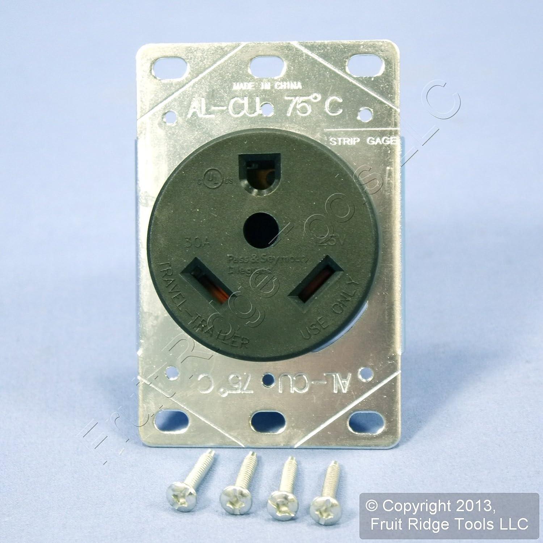 Pass Seymour 3830 Rv Power Outl Nema Tt 30r Eaton 30 Amp Outlet Box Wiring