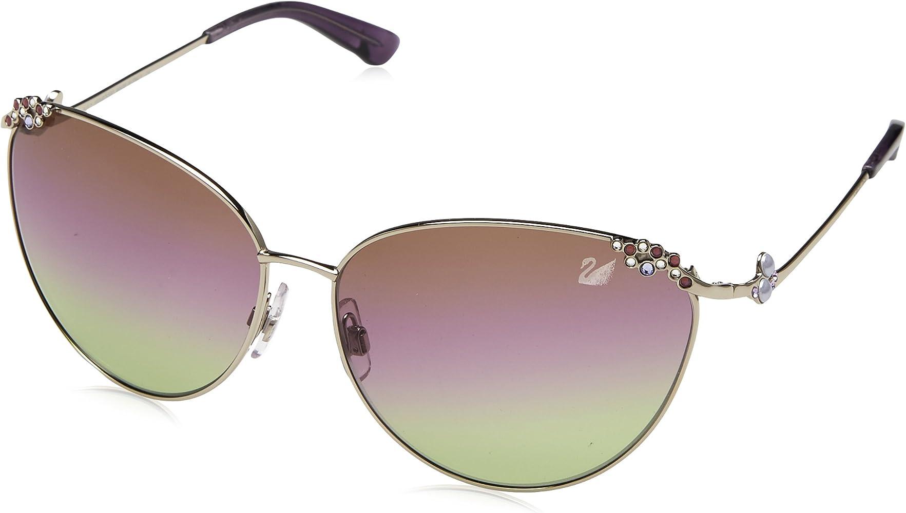 Swarovski Sonnenbrille SK0026 6216Z Gafas de sol, Plateado ...