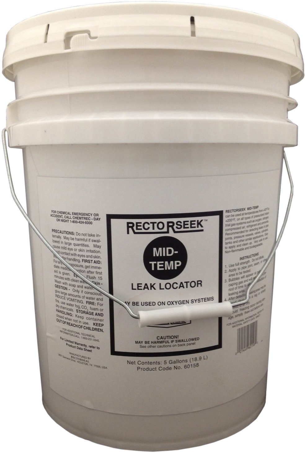 Rectorseal 60158 5-Gallon Pail Rectorseek Mid-Temp Leak Locator The Rectorseal Corporation