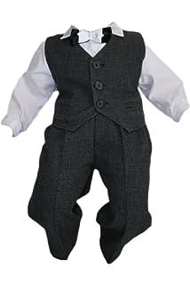 Wei/ß-Rot K16 4tlg Unbekannt Taufanzug Baby Junge Kinder Hochzeit Anz/üge Festanzug