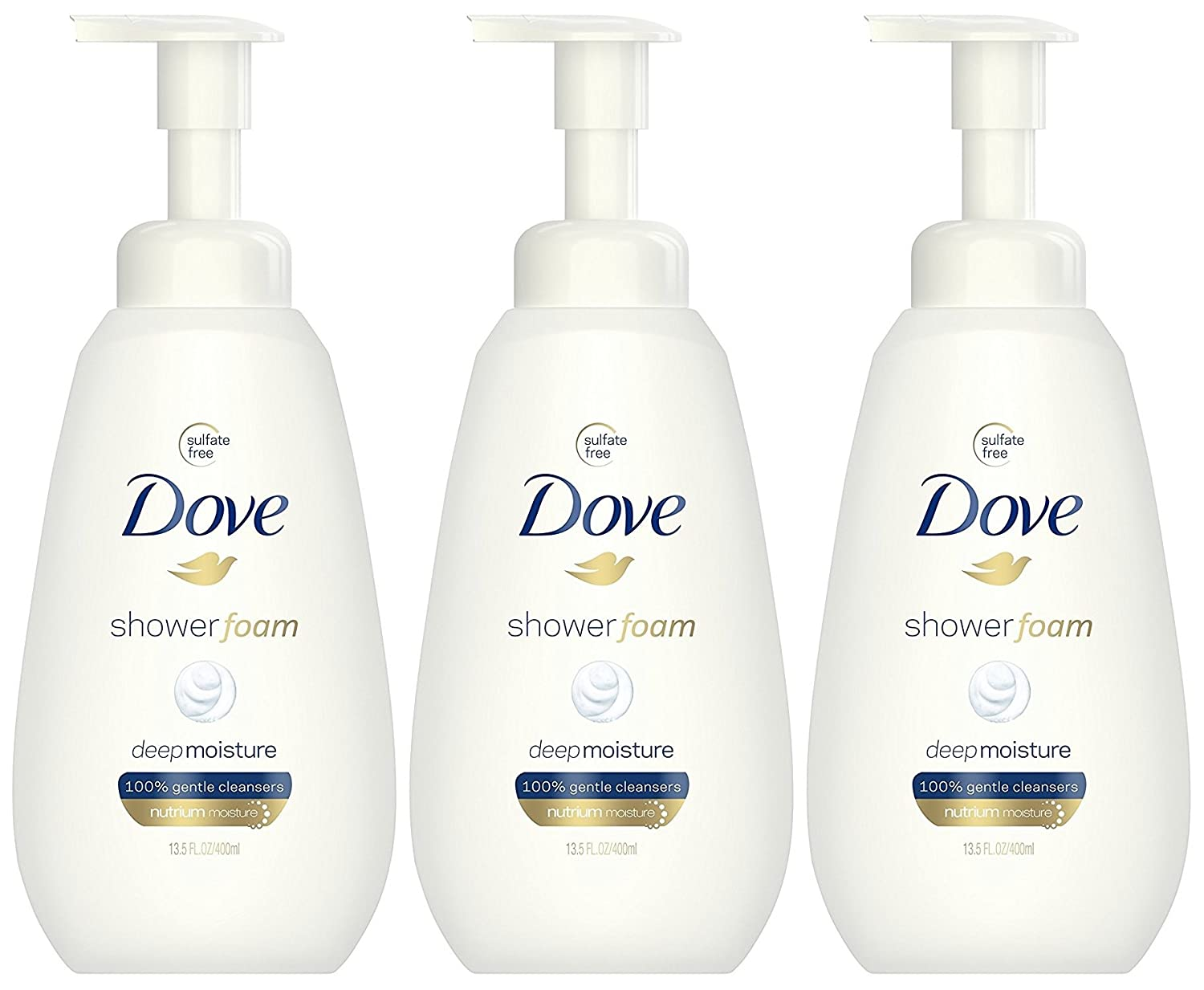 Dove Shower Foam Deep Moisture 13.5 oz, 2 count Unilever / Best Foods